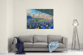 ninian park on matchday canvas a3 size